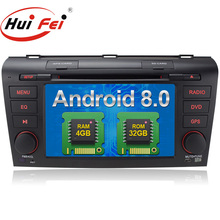 Android 8.0 touch screen car radio multimediale per <span class=keywords><strong>Mazda</strong></span> <span class=keywords><strong>3</strong></span> con dvd player 4 gb di RAM 32 gb di ROM Rockchip PX5 8-Core 7638 H