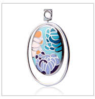 Colorful Enamel 925 silver jewelry pendant 18k gold plated craft Amethyst Crystal Pendant