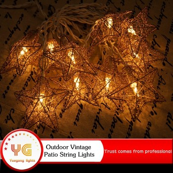 waterproof led christmas light vintage patio globe star string lights for holiday outdoor ornament lighting