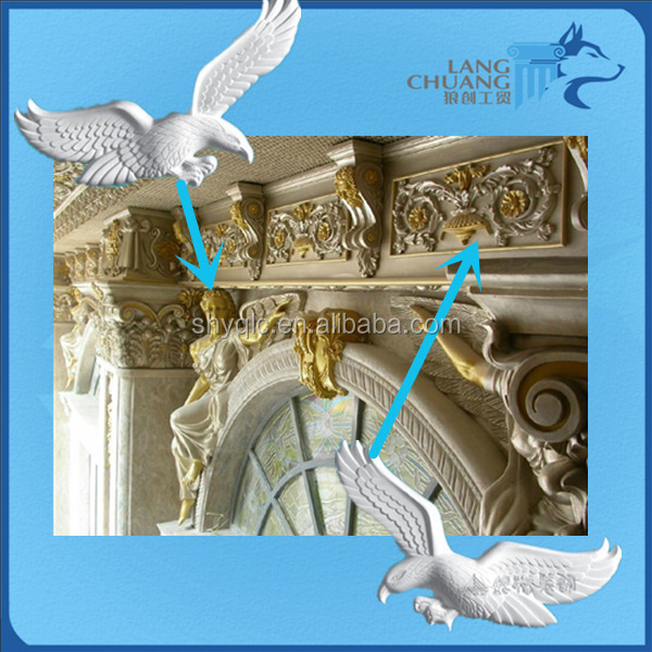 Beauteous Commercial Building Gypsum Plaster Relief Wall Art