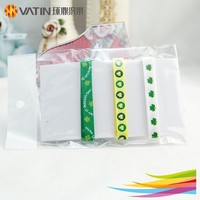 1Yard high quality green style printed clover grosgrain ribbon St Patrick's Day ribbon