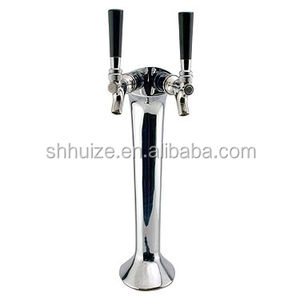 Cobra design chrome 2 way beer tower,Double Faucet Snake Font adjustable+taps