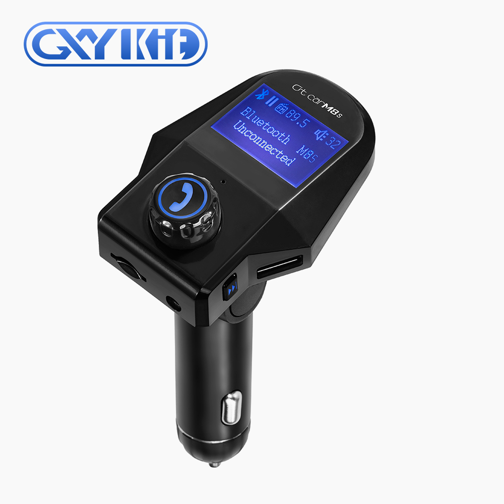 GXYKIT Wireless Dalam Mobil Bluetooth hands free FM Transmitter mp3 Radio player Adapter Car Kit USB Charger Mobil