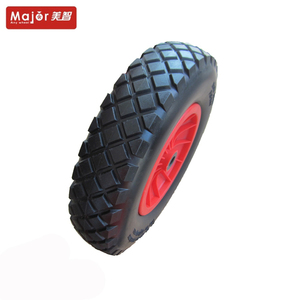 4.80/4.00-8 PU solid rubber wheel 400mm PP hub