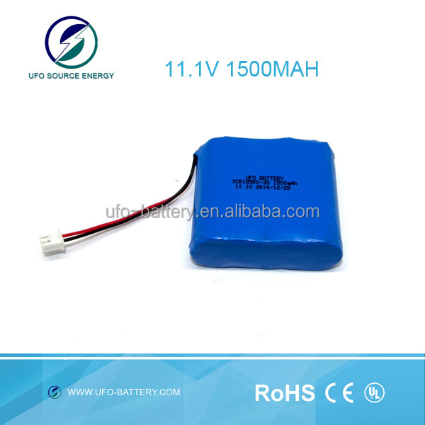 Li ion Battery Pack 18500 11.1v 1500mah Rechargeable Battery For Street Light,Medical Device