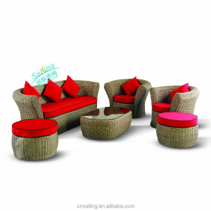 All Weather HD Designs Outdoor Rattan Furniture Sectional Sofa 6106