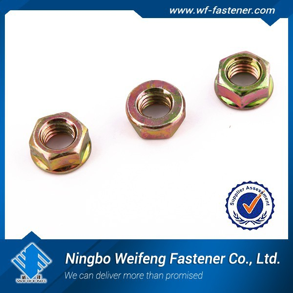 made in ningbo china industrial flange nut / industrial hex nylock nut/industrial DIN6923 hex nuts with flange