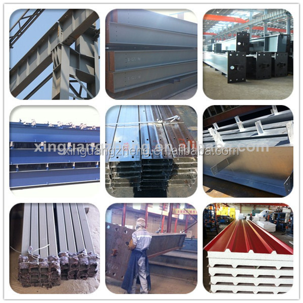 easy install light prefab steel structure small hangar