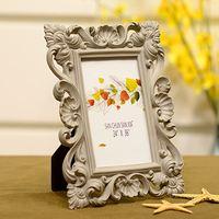 6 inch 7 inch European resin frame creative flower wedding photo frame simple fashion photo frame