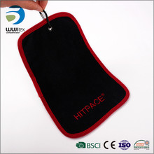 black and red microfiber fast drying with hook sport sweat towels