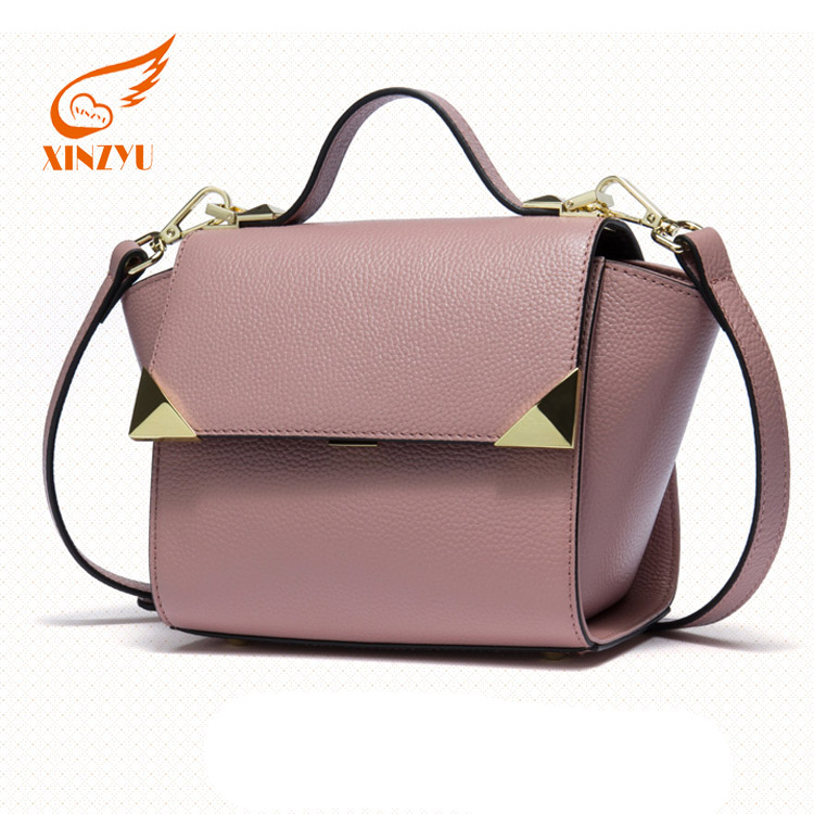 Dignified Lady Top Layer Cowhide Handbags Posh Shoulder Bags for Women