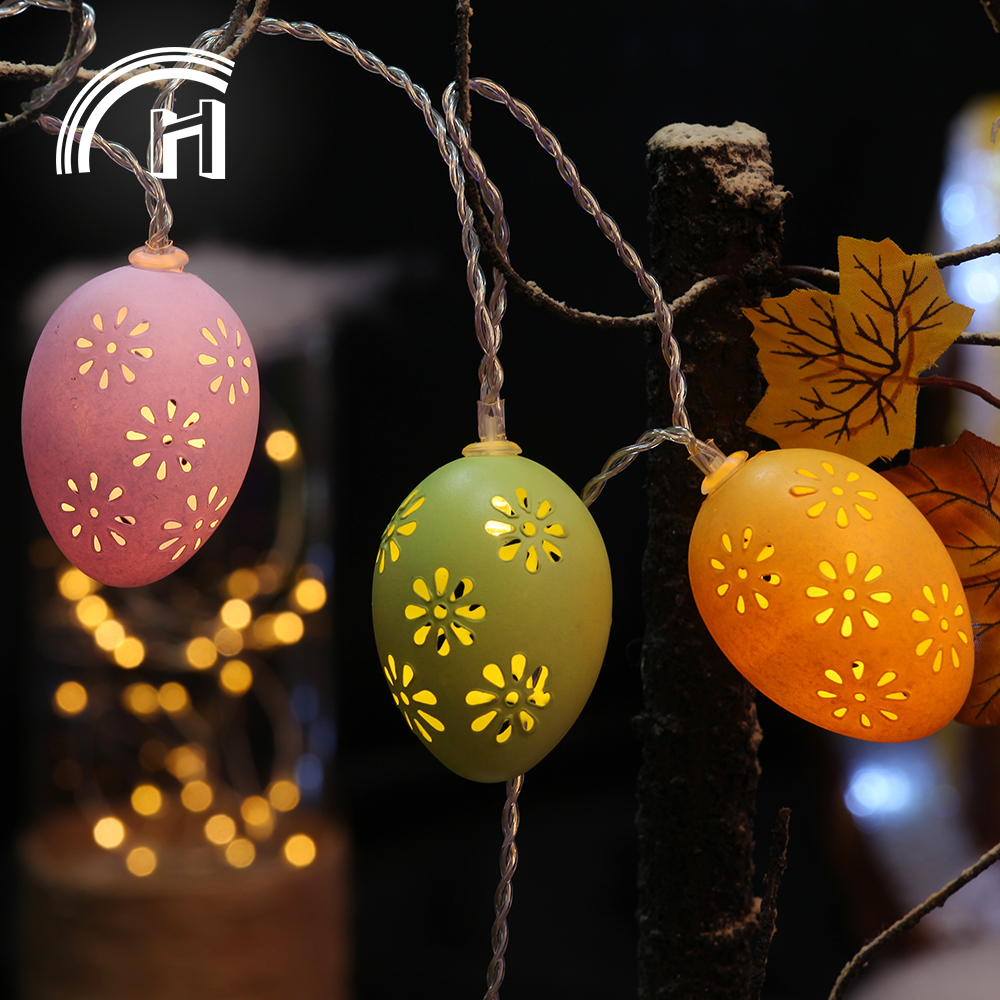 Outdoor easter egg holiday festival time led light
