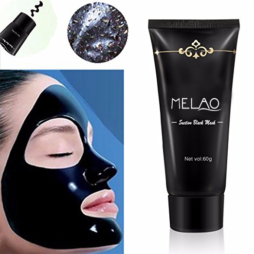 MELAO Blackhead Remover Cleaner Purifying Deep Cleansing Acne Black Mud Face Mask Peel-off
