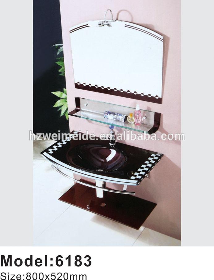 Oem de suelo único fregadero lavabo de cristal Templado-Lavabos ...