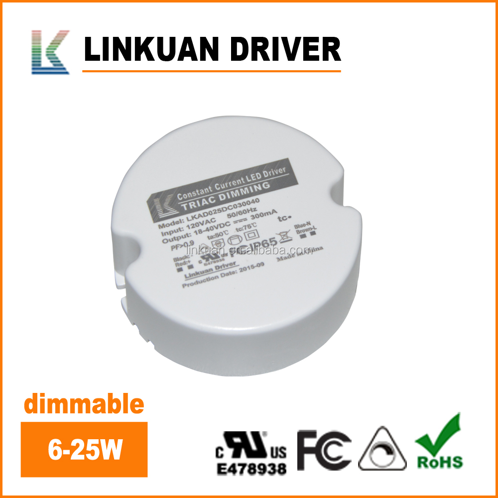 Dia75xH26mm 18-40V led driver and power supply for down light