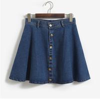 2015 fashion denim ladies short jean skirt designs