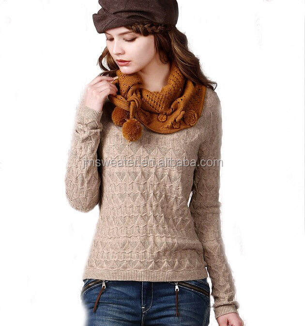 Stylish boat neck sweater knitting pattern for ladies