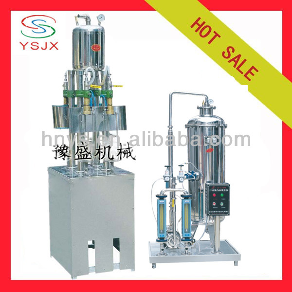 semi automatic bottled aerated water filling machine