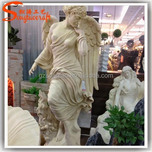 De fibra de vidrio jard n ngeles querubines estatuas del for Jardin querubines