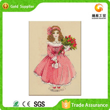 Spullier Manufacture Chidren Room Decration With Small Girl Picture 3D Diy Diamond Cross Stitch Kit
