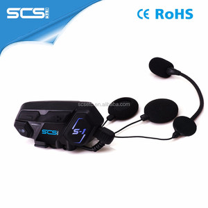 China Manufacturer S1 wireless bt helmet interphone with factory price