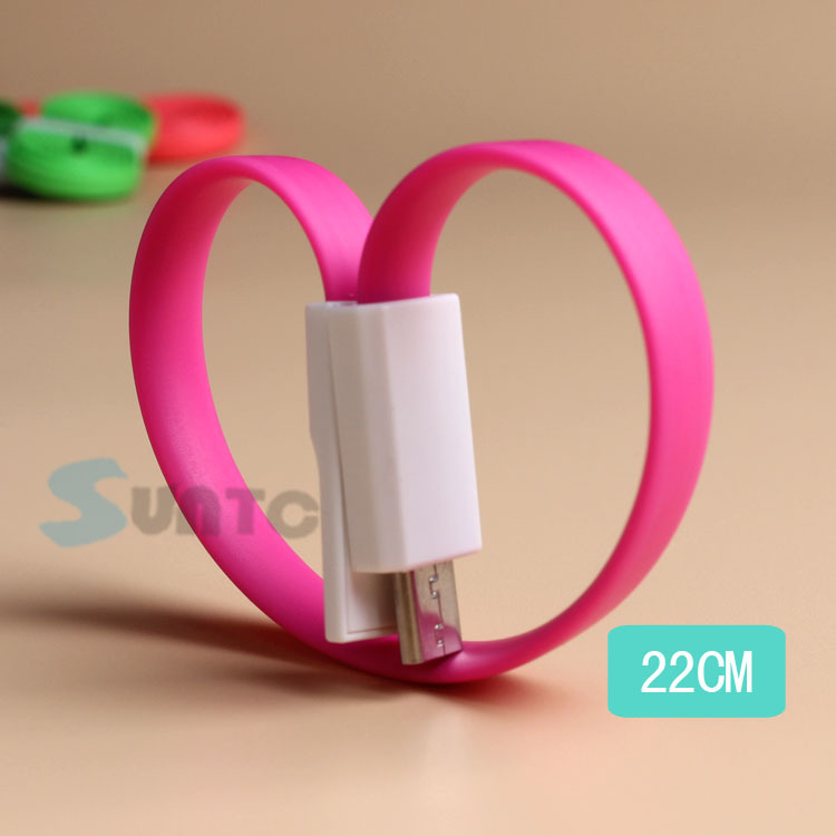 Universal colorful 1.2 m mini usb data cable from China manufacturer