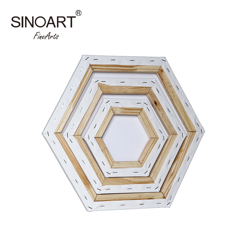 Hot Sale Artist Hexagon Standard Membentang Art Painting Blank Canvas