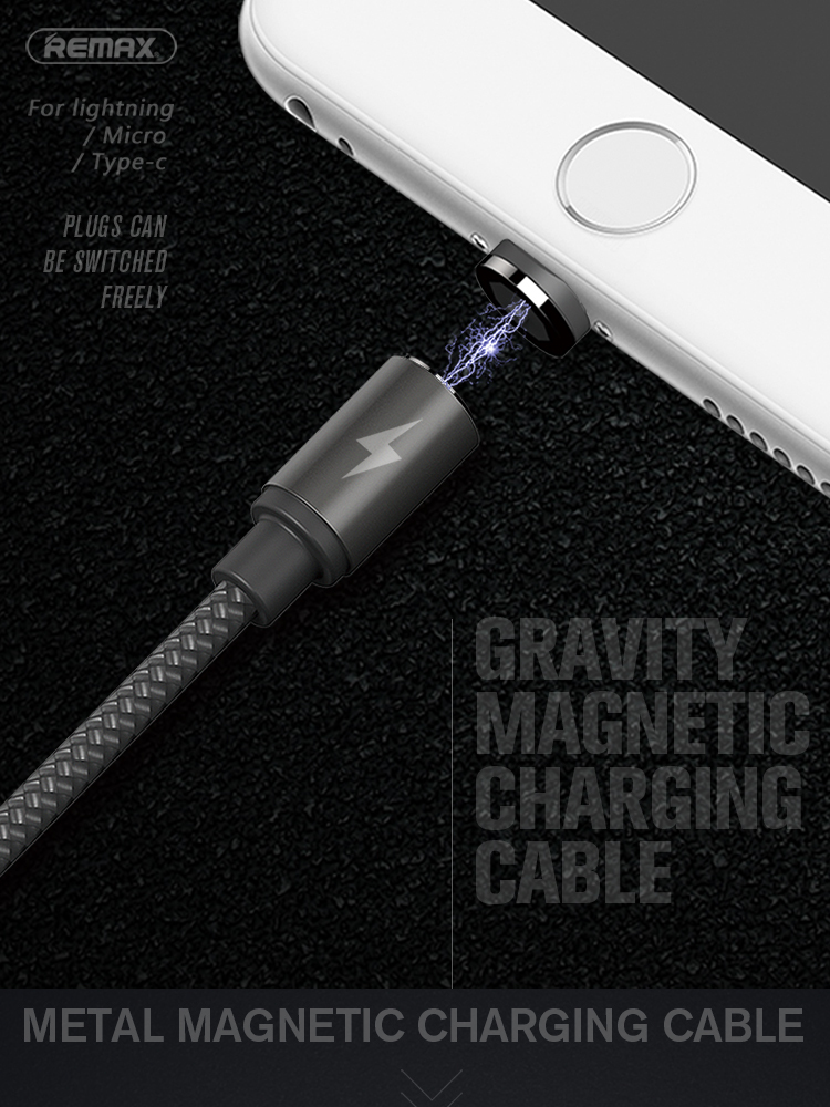 REMAX Metal Magnetic Charging USB Cable