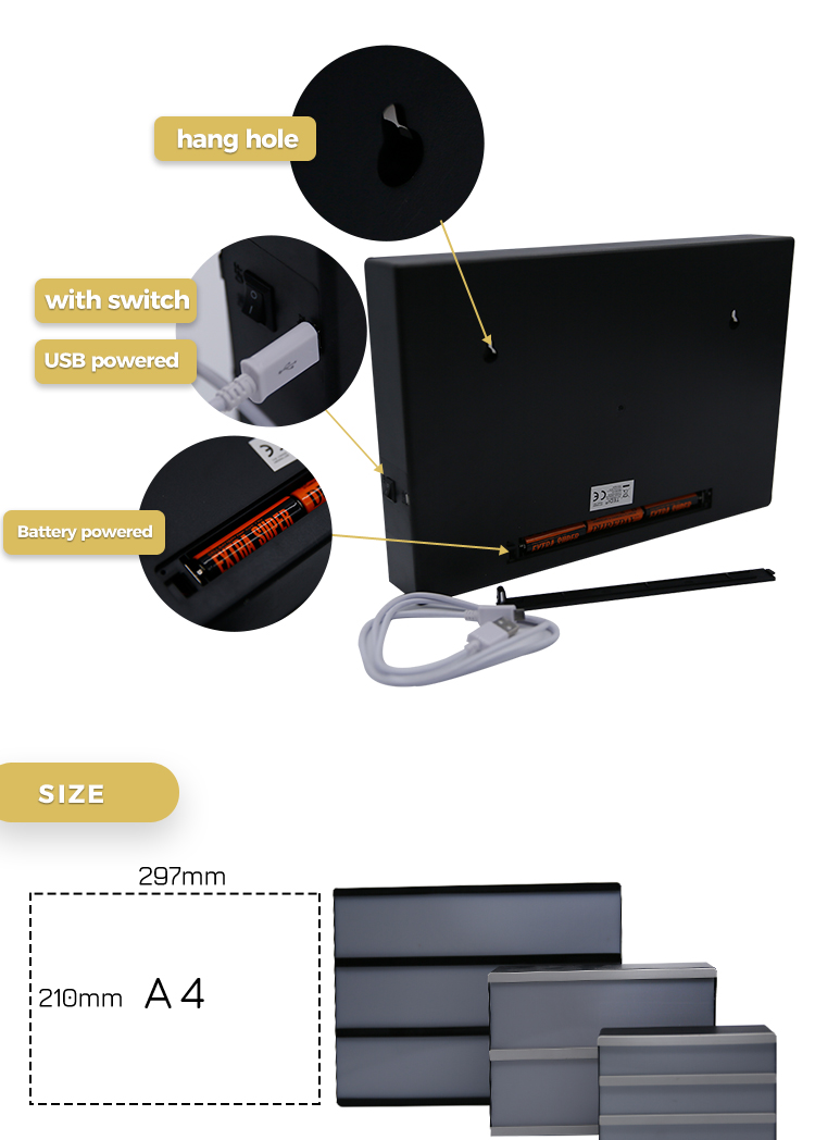 Best quality service in low price acrylic portable cinema light box