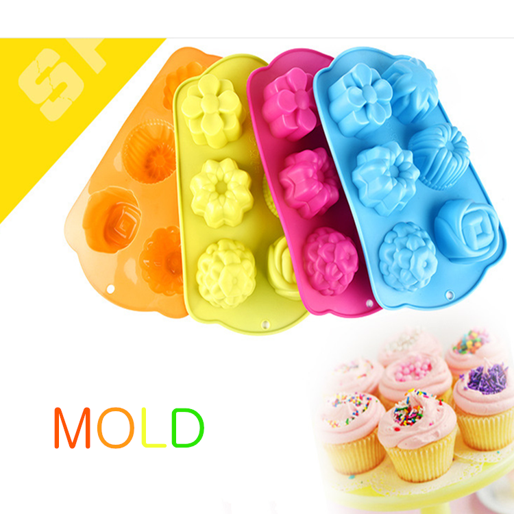 Food-grade DIY Silicone Soap Molds Hand-made Pudding Cake Molds