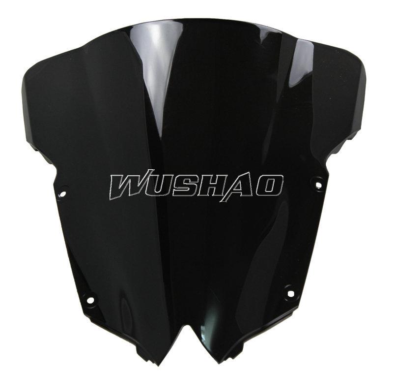 Мотоцикл двойной пузырь лобовое стекло лобовое стекло для 2008 - Yamaha YZF 600 R6 2009 2010 15 черный