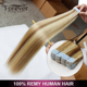 Forever factory wholesale price keratin stick mixed color tape hair extension us