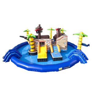 Outdoor Giant Inflatable Water Park with Pool for Kids