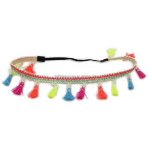Girls boho crown with tassels AZTEC tassels headbands