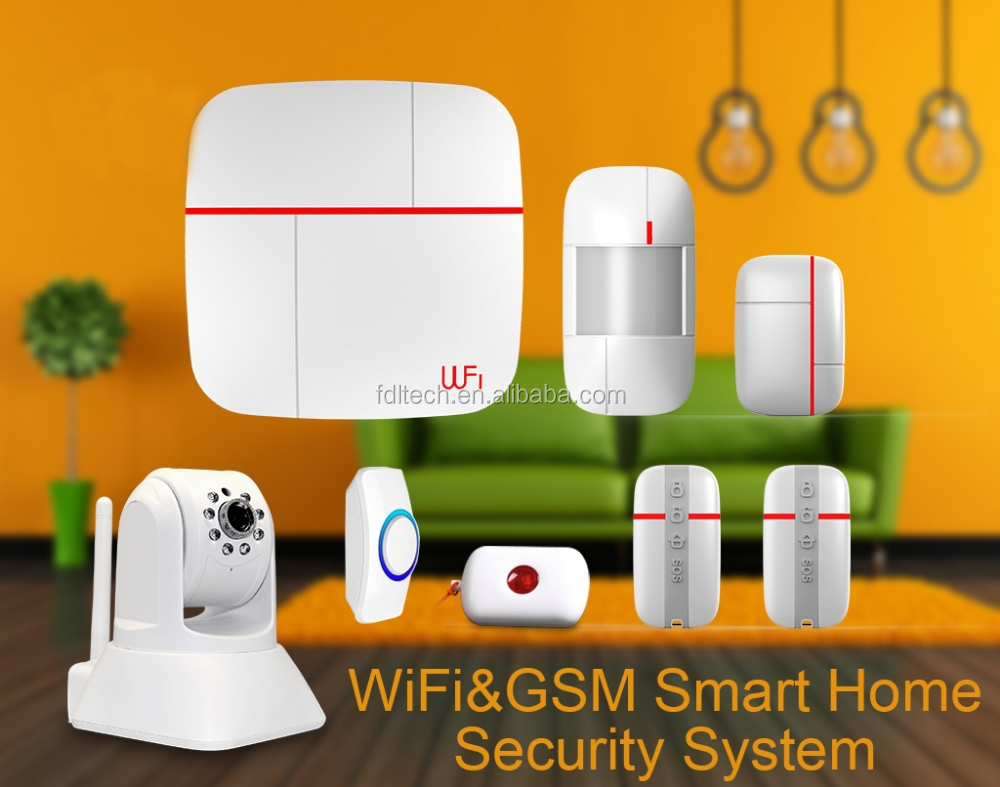 wireless gsm security alarm manual wifi+gsm cloud server FDL-WFK14