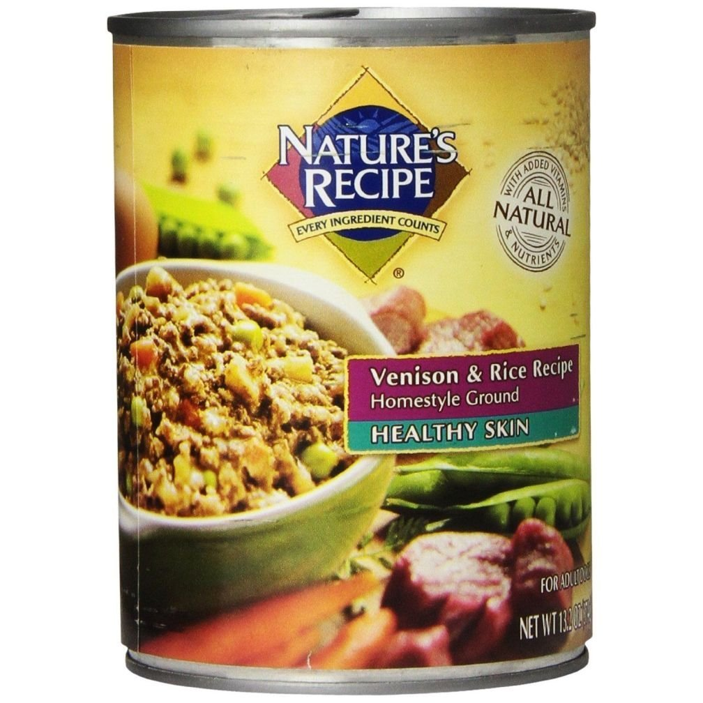 Buy natures recipe canned dog food for adult dog healthy skin natures recipe canned dog food for adult dog healthy skin venison rice recipe forumfinder Choice Image
