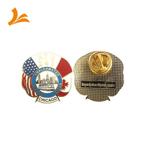 Wholesale Bulk Cheap Custom American Flag Lapel Pin with country flag logo