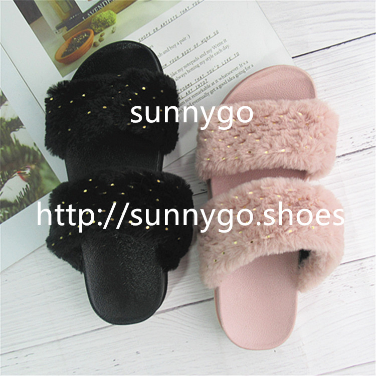 autumn fashion women slippers fur plastic shoes jieyang  factory outdoor lady casual shoes