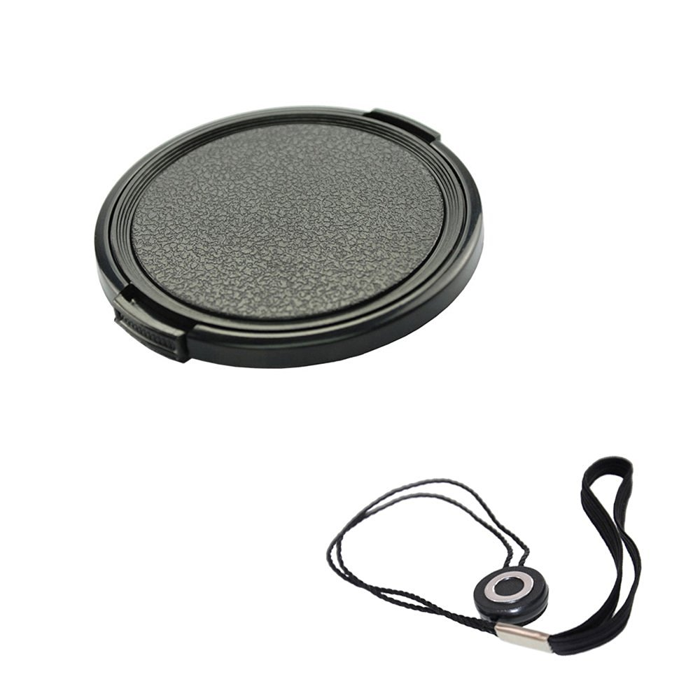 FoRapid 49mm Side-Pinch Snap-On Front Lens Cap/Cover with Lens Cap Holder Keeper for Canon Nikon Sony Olympus Pentax all DSLR Cameras