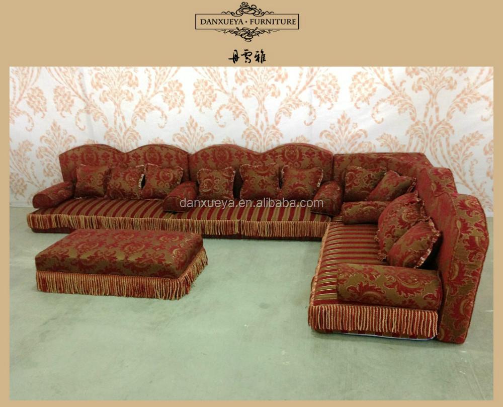 Arab Tradisional L Bentuk Sudut Sofa Dalam Kain Dari China Foshan