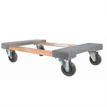 lows wheelbarrow and hardwood furniture mover dolly carpeted wooden dolly