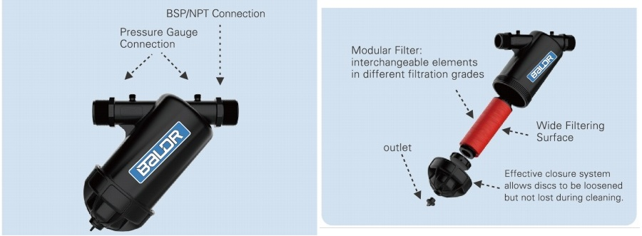 130 micron manual water disc filter