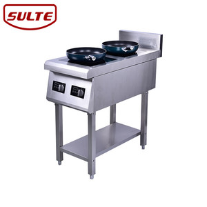 Catering buffet equipment kitchen 3500w double induction cooker/2 burner electric cooktop