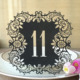 Romantic Delicate Carved Glossy paper Wedding Table Number Table Cards Laser Cut Card with Numbers with 21 colors