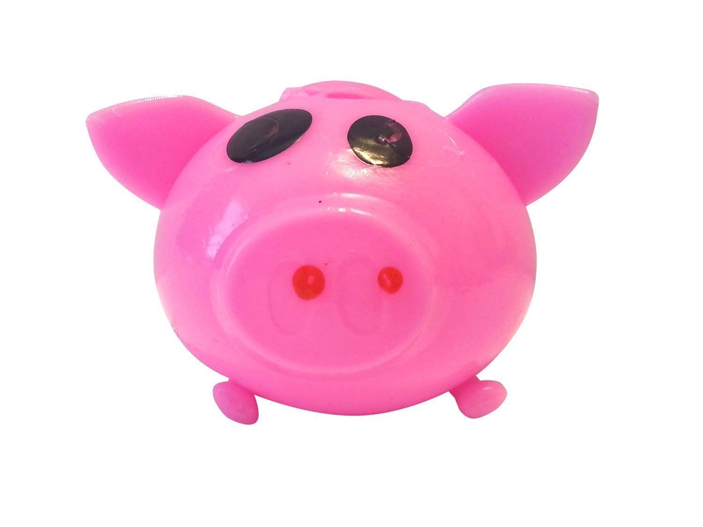 Splat Ball Novelty Squishy Toy Pink Pig