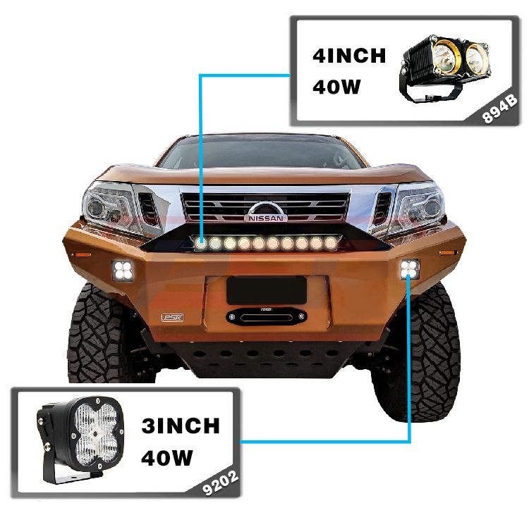 40 วัตต์ 12 โวลต์ Offroad Flood Spot Combo สแควร์รถจักรยานยนต์รถบรรทุกยานพาหนะ LED Work Light สำหรับรถยนต์