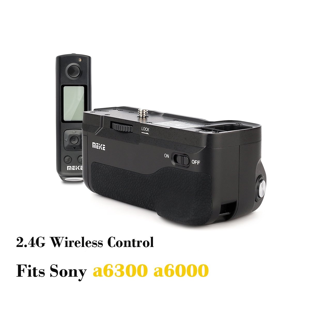 Meike MK-A6300 pro Vertical Shooting Power Pack Battery Grip with 2.4G Hz Wireless Remote Control Fit SONY a6300 a6000 Camera