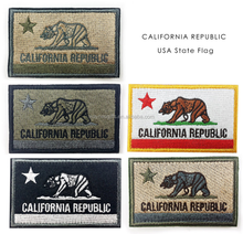 Stock California Republic USA American state flag embroidered Patch