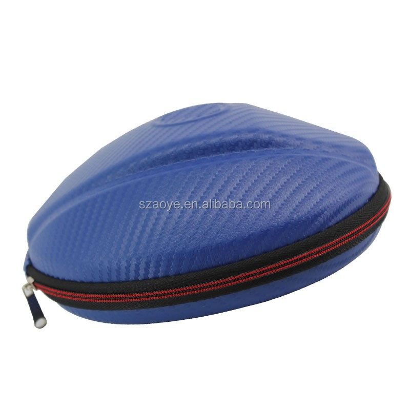 Manufacture Custom fashionable EVA round headphone protective case with basketball shape