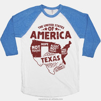 Cheap Wholesale Baseball Tees 100% Cotton Unisex Baseball T Shirt Custom Design 3/4 Raglan Sleeve Baseball T Shirt
